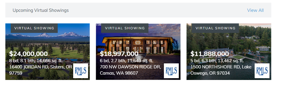 Virtual Showing Widgets